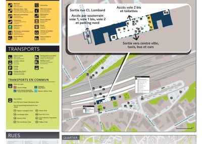 Plan d'orientation de la gare de Dole